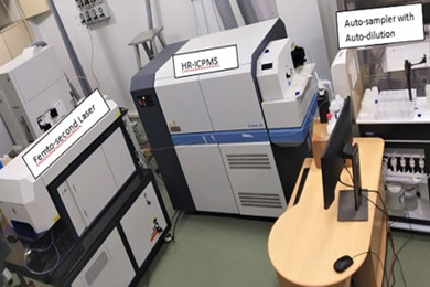Femto Second Laser Ablation High Resolution- Inductively Coupled Plasma Mass Spectrometer (FsLA-HR-ICPMS)