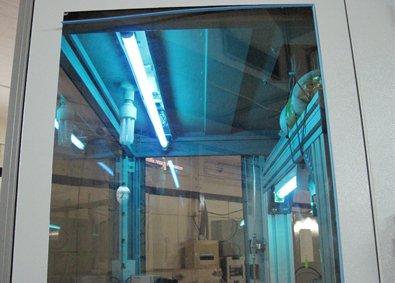 ASPIRE Inside showing UV Tube for decontamination