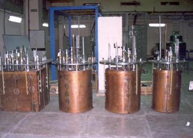 Inside view of the Valve boxes with Copper shield