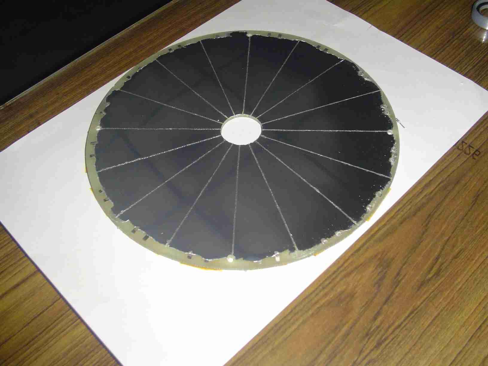 Annular PPAC segmented electrode