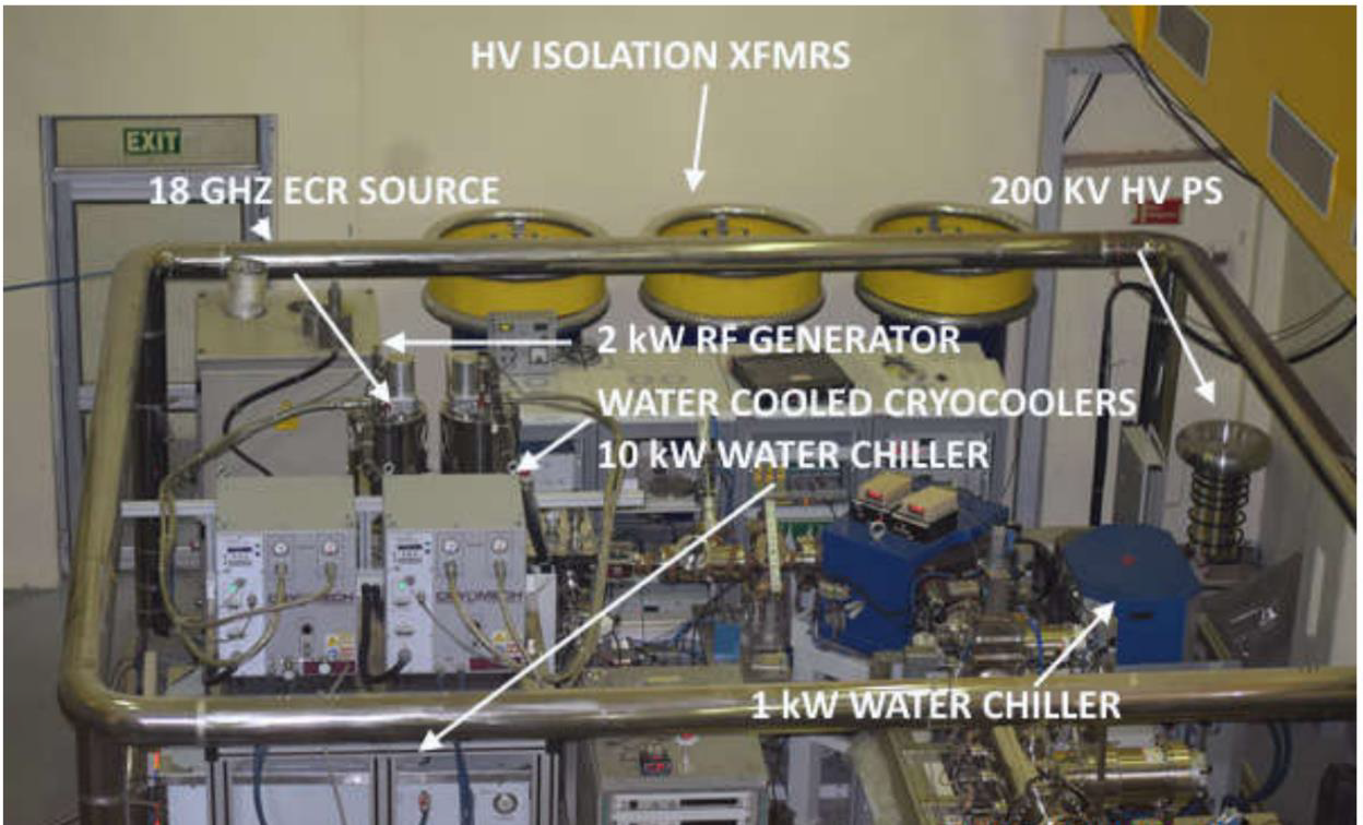ion source and related components installed on 200kV high voltage platform