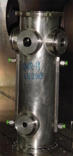 The first niobium QWR built in IUAC