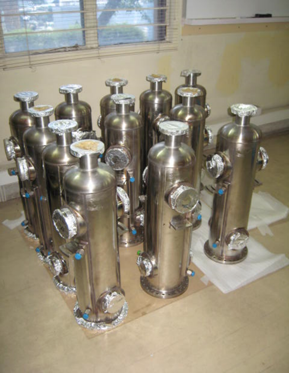 The indigenously fabricated resonators from bulk production and their tuner bellows..