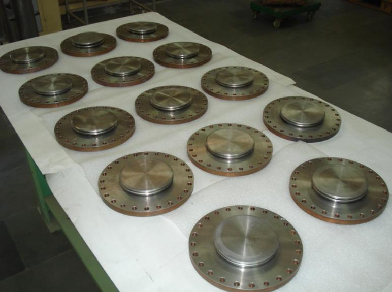 The indigenously fabricated resonators from bulk production and their tuner bellows.
