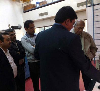 Visit by Dr Srikumar Banerjee, Chairman, Governing Body-IUAC (Former Chairman-DAE), to see the SSR1 single spoke resonator (December 2017).