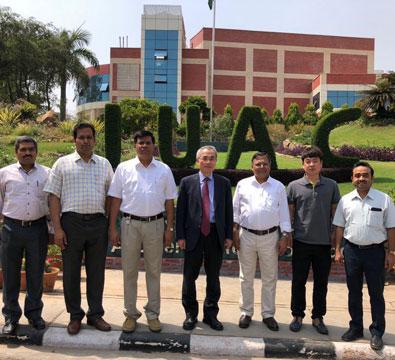 Visit by Dr Sunchan Jeong, Director-RISP, Korea, to IUAC to discuss joint development of niobium spoke resonators (April 2018).